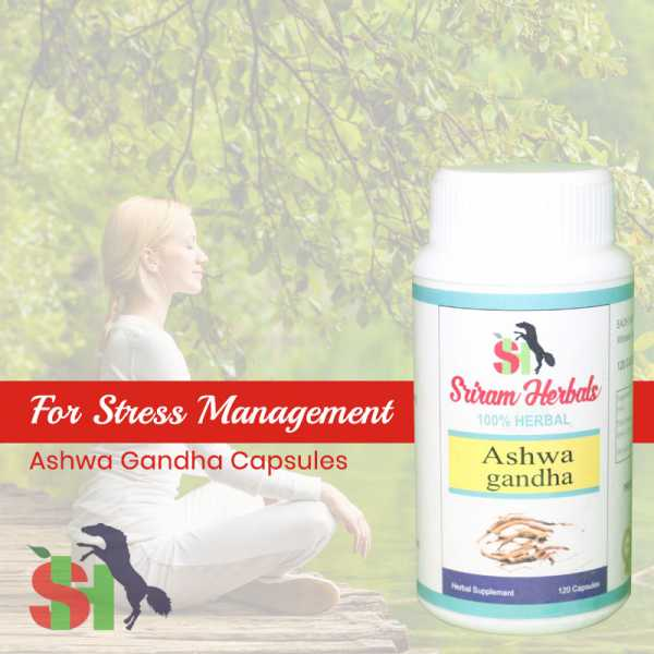 Buy Ashwagandha Capsules - Stress Relief Online in India